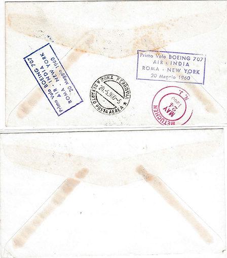 AIR INDIA_20TH MAY 1960 ROME NEW YORK _0