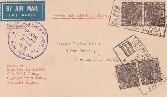 1936 XMAS FLIGHT KARACHI CEYLON FFC.jpg