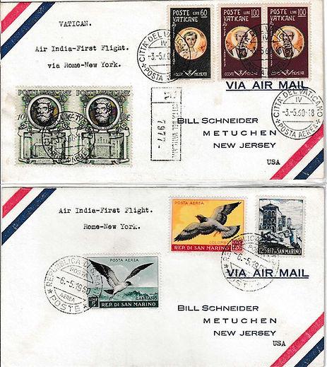 AIR INDIA_20TH MAY 1960 ROME NEW YORK .j