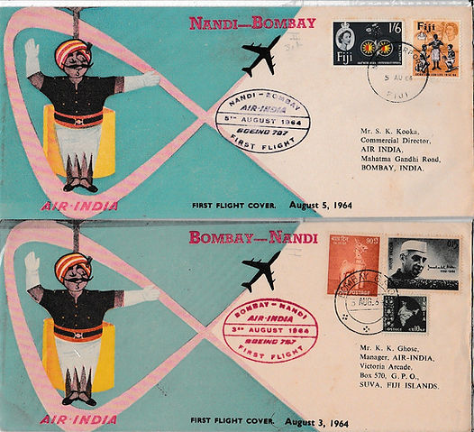 AIR INDIA BOMBAY NANDI BOMBAY 3RD AUGUST 1964 FFC