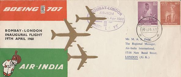 19 APRIL 1960 AIR INDIA BOMBAY LONDON FF