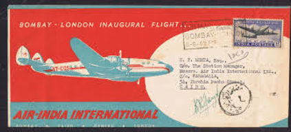 AIR INDIA FIRST FLIGHT COVER 8th-June-1948