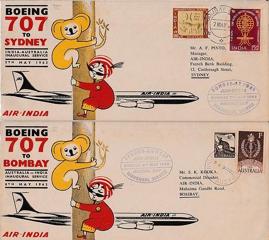 AIR INDIA_ 1962 BOMBAY SYDNEY BOMBAY FFC
