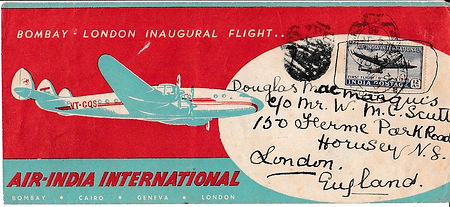 AIR INDIA_8TH JUNE 1948 ENGLAND CANCELLE