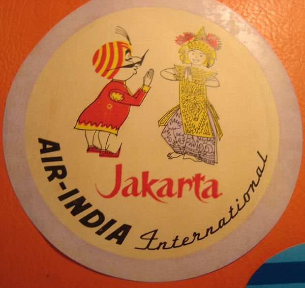 AVIATION AIRLINE luggage labels AIR-INDIA