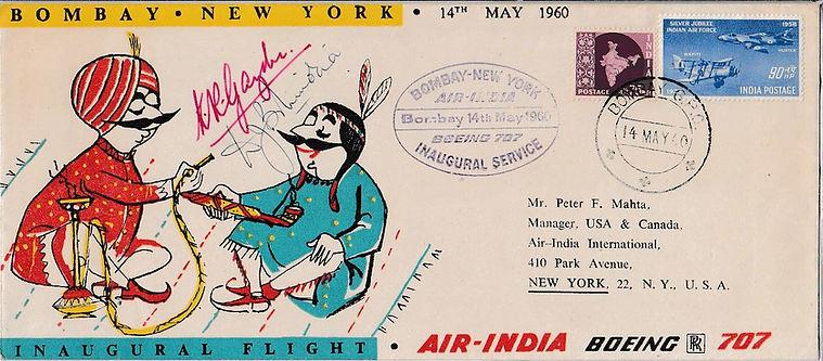 AIR INDIA_14TH MAY 1960 BOMBAY NEW YORK.