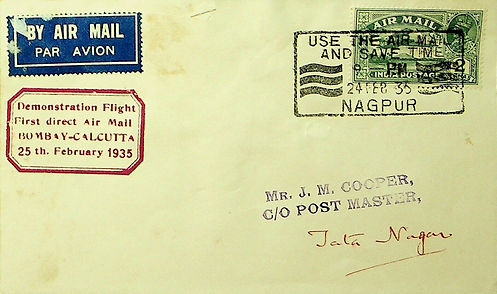 INDIA 1935 FFC NAGPUR-CALCUTTA TATA NAGAR.jpg