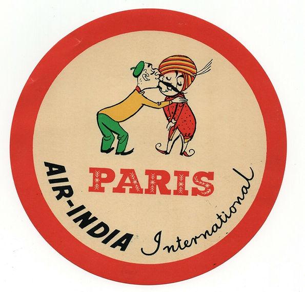 Vintage Airline Luggage Label - Air Indi