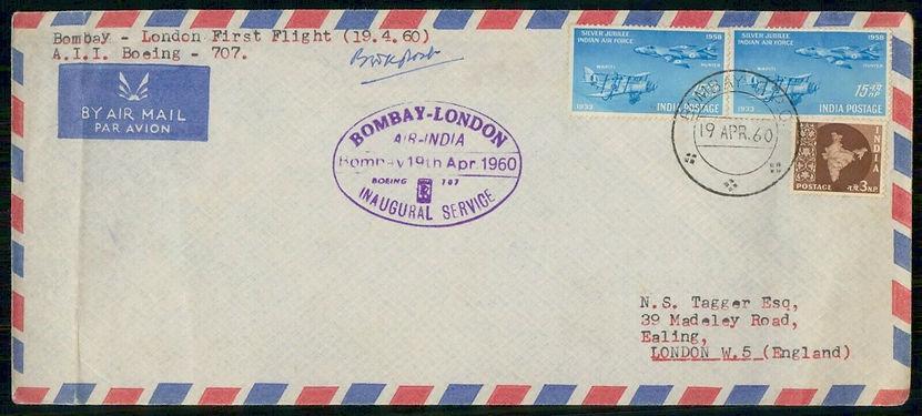 1960 BOMBAY LONDON AIR INDIA FFC.jpg