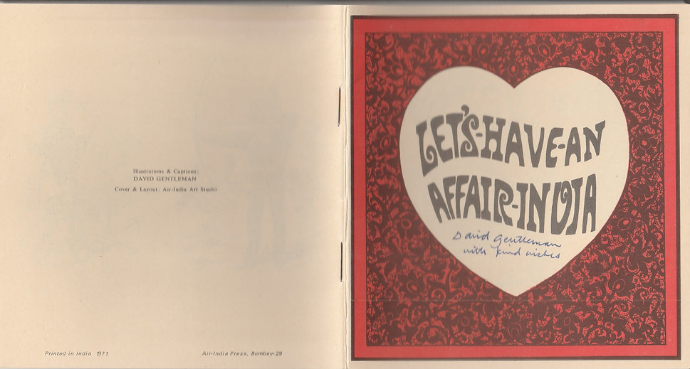 LETS HAVE AN AFFAIR INDIA BOOKLET SIGNED