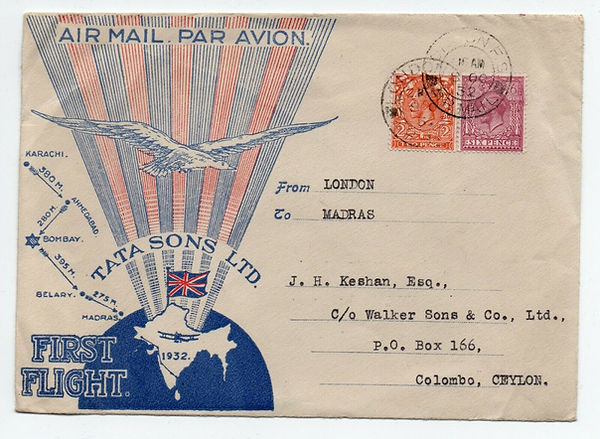 GREAT BRITAIN 1932 ACCEPTANCE FOR FIRST