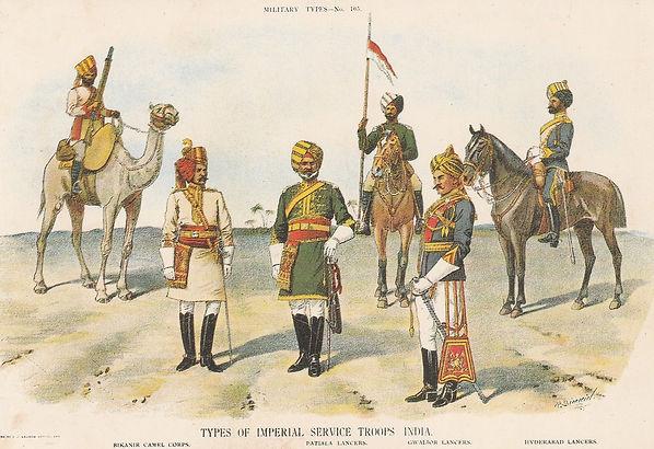 AIR INDIA POSTCARD ARMY
