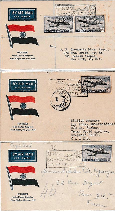 AIR INDIA_8TH JUNE 1948 CAIRO NY PARIS.j