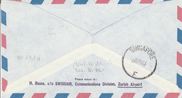 1 APRIL 1963 GENEVA SINGAPORE AIR INDIA