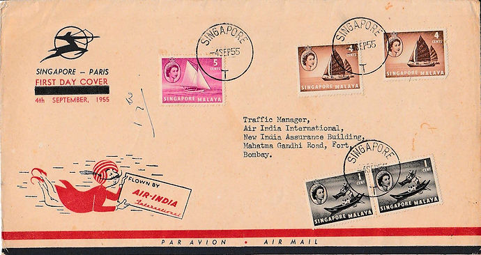 AIR INDIA_4TH SEPTEMBER 1955 SINGAPORE P