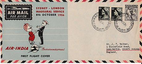 AIR INDIA_8TH OCTOBER 1956 SYDNEY LONDON