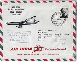 AIR INDIA 4TH MAY 1961 ROME BOMBAY flight cover