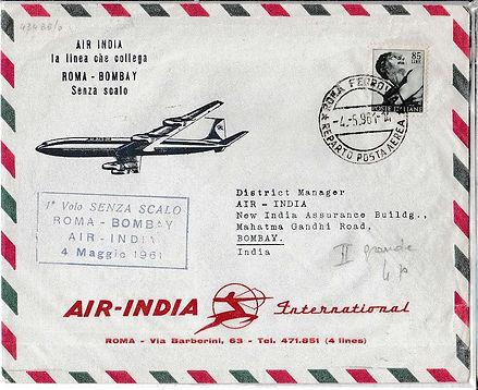 AIR INDIA_4TH MAY 1961 ROME BOMBAY FFC.jpg