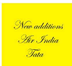NEW ADDITION TATA AIR INDIA