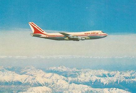 AIR INDIA POSTCARD BOEING