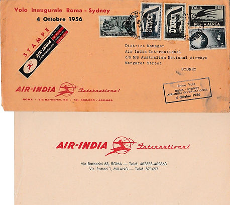 AIR INDIA_4TH OCTOBER 1956 ROME SYDNEY_0