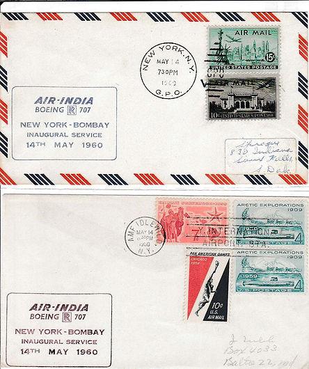 AIR INDIA_14TH MAY 1960 NEW YORK BOMBAY_