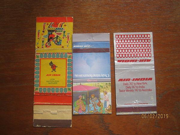 Matchbook matchbooks 1970s AIR INDIA AIR