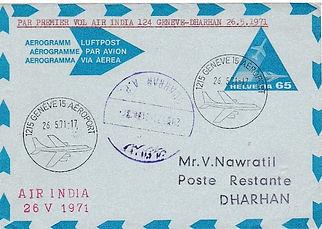 AIR INDIA GENEVA DHAHRAN DHARHAN FLIGHT COVER