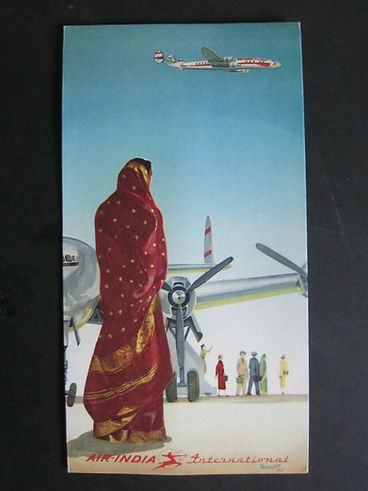 Air-India advertising placards.