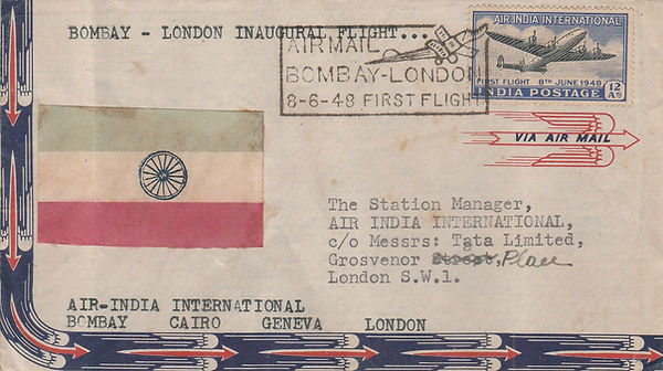 8th JUNE 1948 BOMBAY LONDON AIR INDIA FF