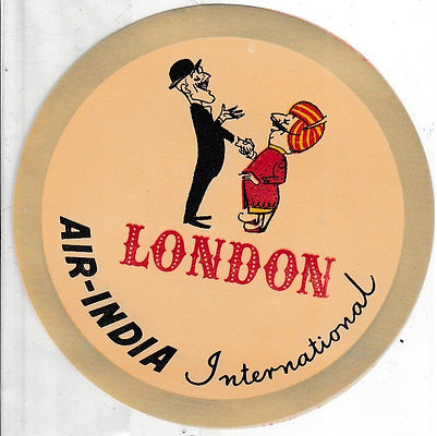 AIR INDIA LUGGAGE LABEL_LONDON