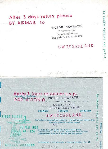 AIR INDIA FFC GENEVE DHARAN 1971