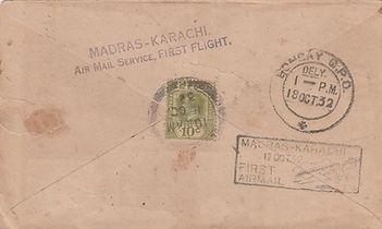 1932 COLOMBO TO BOMBAY VIA MADRAS FFC BA