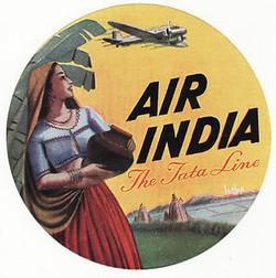 Lugguage labels air-india-labels