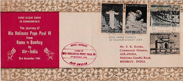 AIR INDIA POPE FLIGHT 2ND DEC 1964 FFC.jpg