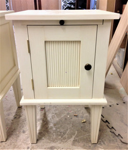bedside table spray painting renovation