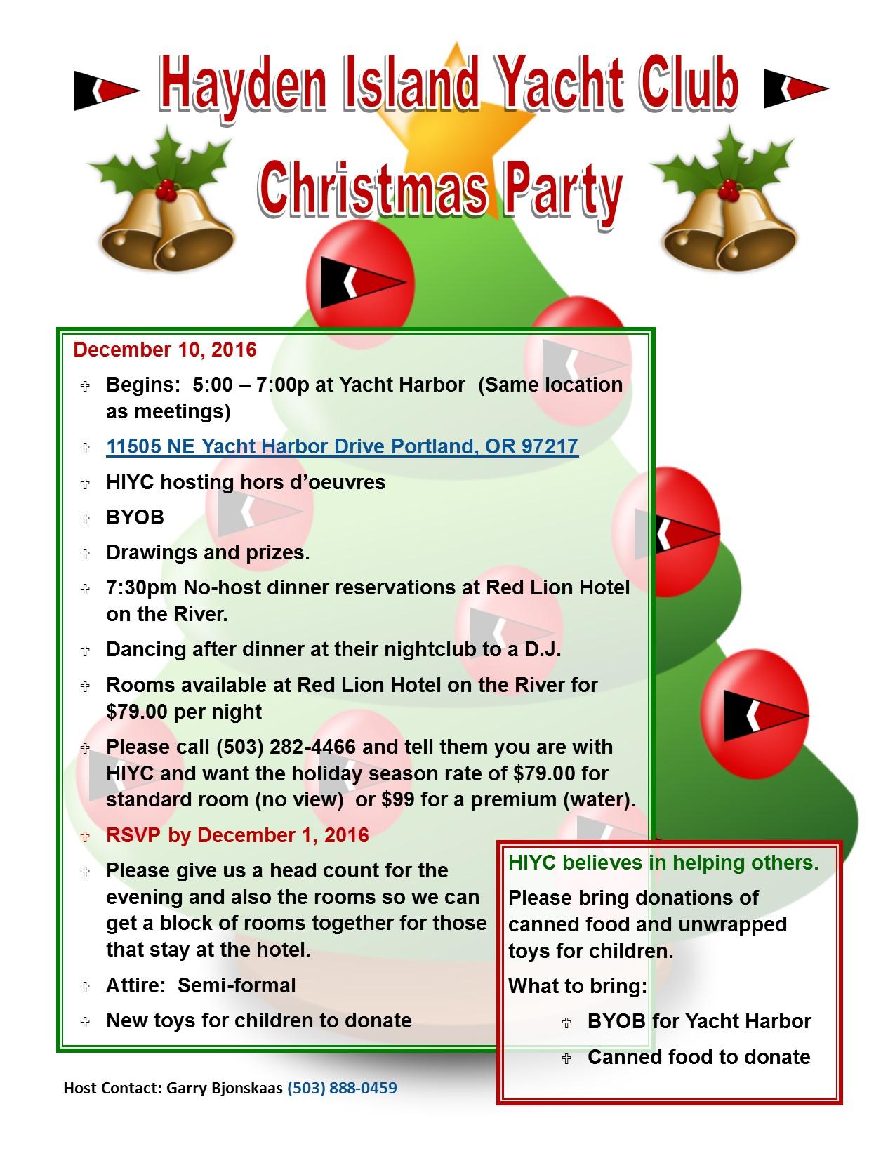 HIYC 2016 Dec Christmas Party Flyer