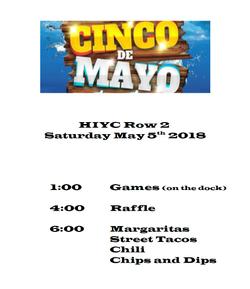HIYC 5 de Mayo Flyer