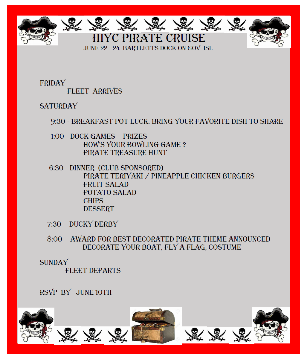 HIYC June 2018 cruise