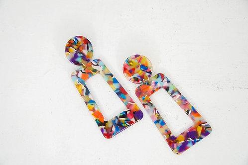 Pendientes multicolor