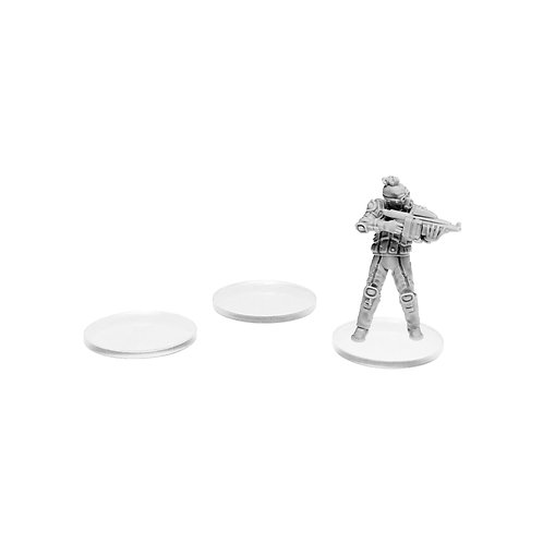Clear Acrylic Infantry Bases