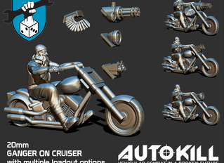 MAKE WAY FOR OUR BIKER GANGER ON CRUISER, COMING SOON!
