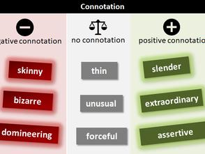 Учим студента отличать коннотации слова