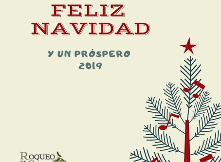 Desde Roqueo de Chavela os deseamos a tod@s una feliz Navidad y un próspero 2019