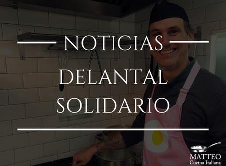 Matteo con el delantal solidario de Canal Cocina