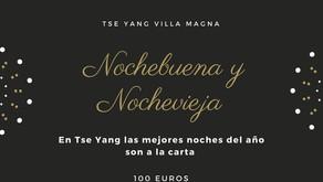 Nochebuena y Nochevieja a la carta en Restaurante Tse Yang Villa Magna