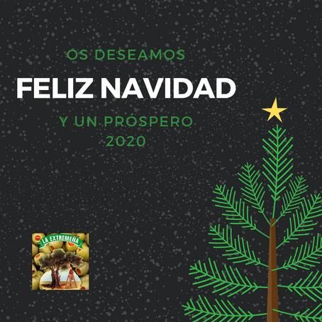 Desde Aceitunas La Extremeña os deseamos una Feliz Navidad y un Próspero 2020, ¡felices fiestas!