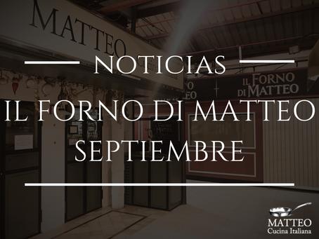 Il Forno di Matteo, en septiembre en el Mercado de la Paz