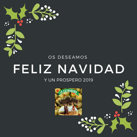 Desde Aceitunas La Extremeña os deseamos una Feliz Navidad y un Próspero 2019, ¡felices fiestas!