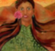 Maija Ylä-Sahra painting